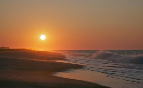 newyork beach sunrise dawn haze fireisland fairharbor fireislandnationalseashore ourocean