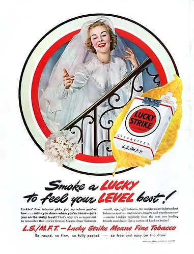 1949 - Smoke a Lucky To Feel Your Level Best by clotho98