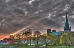 Sunset Nidaros Cathedral Trondheim