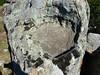 Sommet du Castellacciu : roche creusée