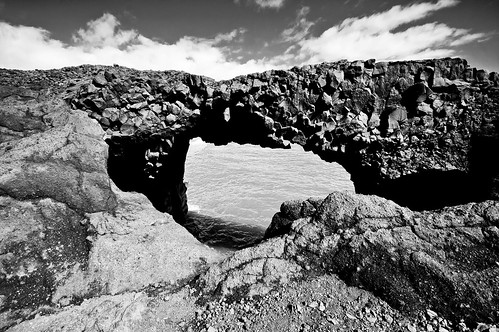 Basalt Arch (B&W)