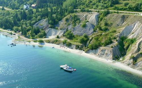 ocean sea beach water swimming novascotia aerial capebreton whitesand marblemountain pleasureboating