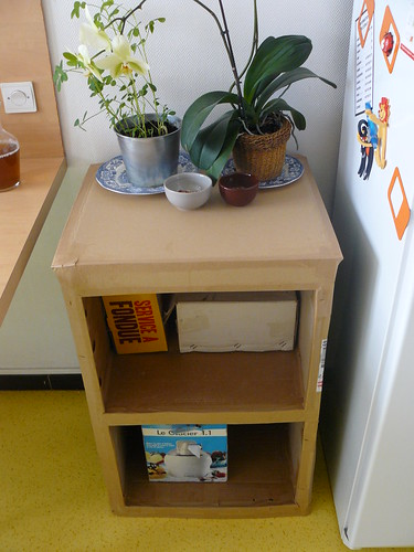 How To Make A Book Holder Out Of Cardboard ~ Make an endtable out of cardboard entirely