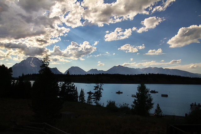 Jackson Lake from Signal Mountain Lodge