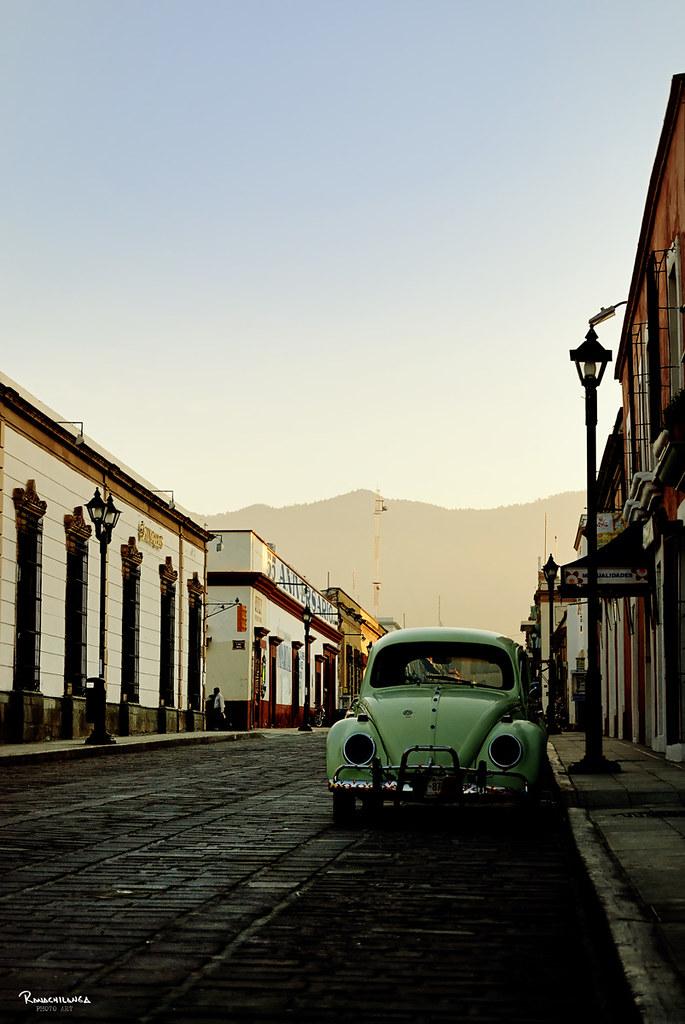 """Auto antropologia"" (VW beetle in Oaxaca, Mex.) by Ranachilanga.tk"