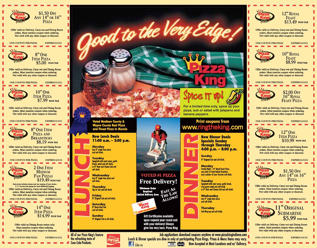 Kings pizza coupons
