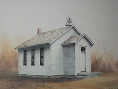 Country Schoolhouse Painting