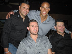 Jose, Carlos, Nathan, Dave at Nathan's B-day party