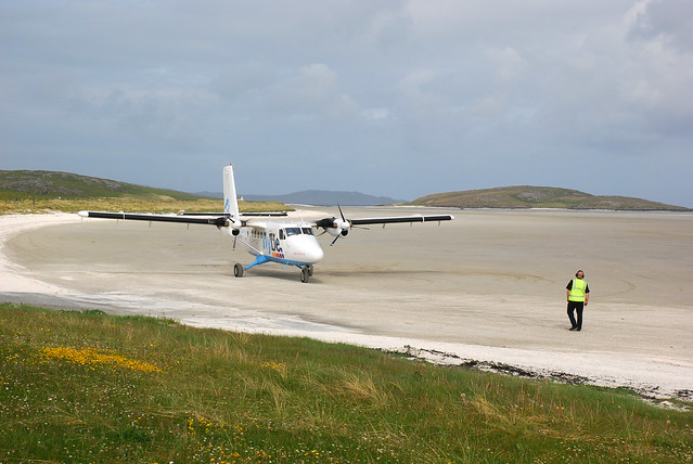 Barra Airport, aye, the beach.