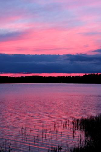 pink blue sunset red lake black afternoon sammi ikaalinen kyrösjärvi