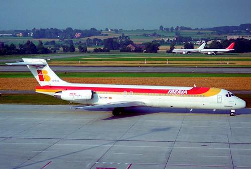 IBERIA MD-87; EC-EXN@ZRH;11.08.1995