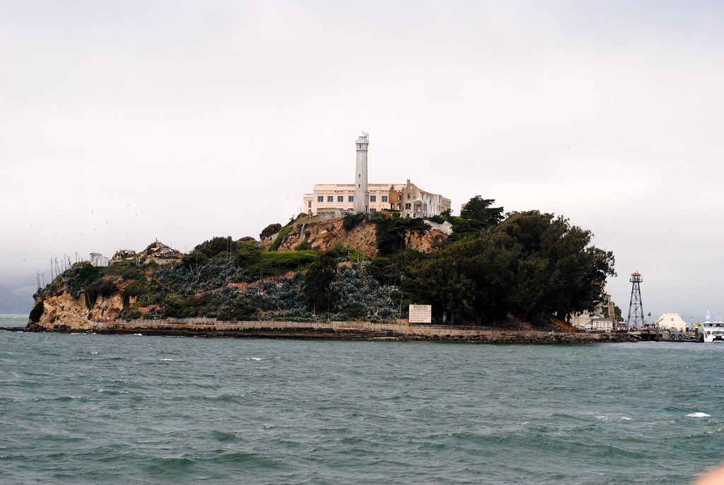 Alcatraz Island San Francisco bay.