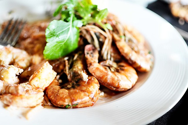 plate of prawns