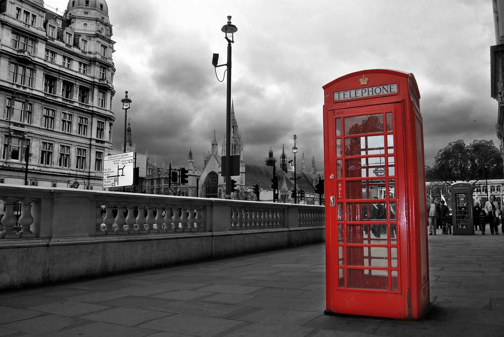 Phone Box In London Cabina De Telefono De Londres Flickr