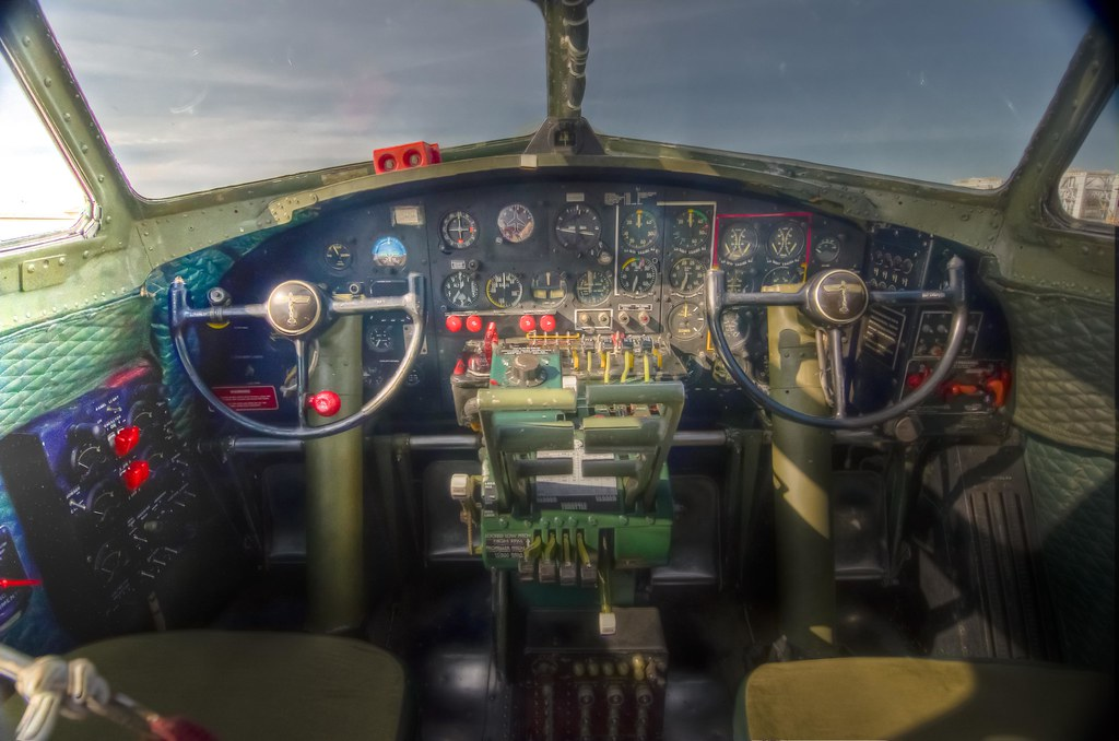 "B-17 ""Sentimental Journey"" Cockpit controls"