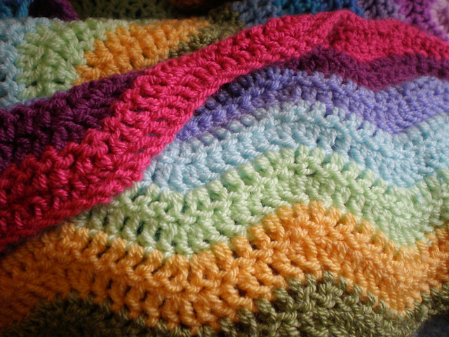 Crochet Ripple Blanket : Crochet Rainbow Ripple Blanket Flickr - Photo Sharing!