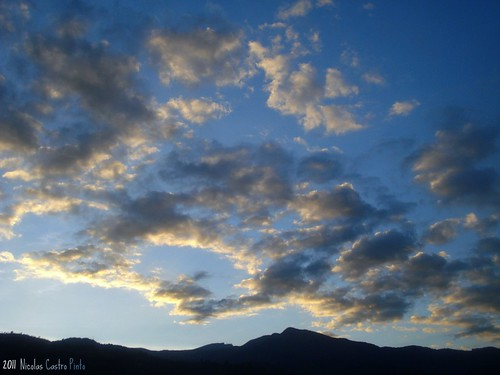 blue sunset sky cloud mountain azul dawn alba cielo montaña nube nicaspin