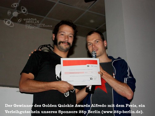 QF68 Spiegel - Gewinner des Golden Quickie Awards Alfredo vom Macuto Collective