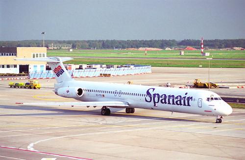 Spanair MD-83; EC-FTS@FRA;10.10.1995