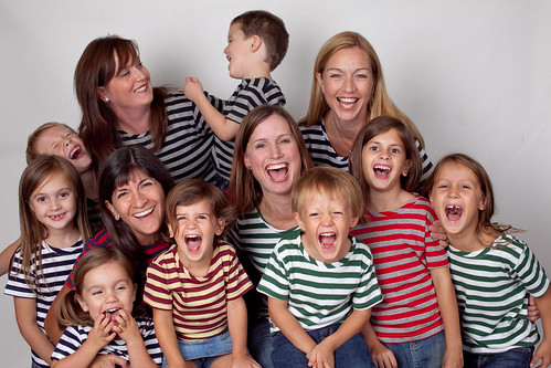 happy-striped-shirt-wearing-moms-and-kids