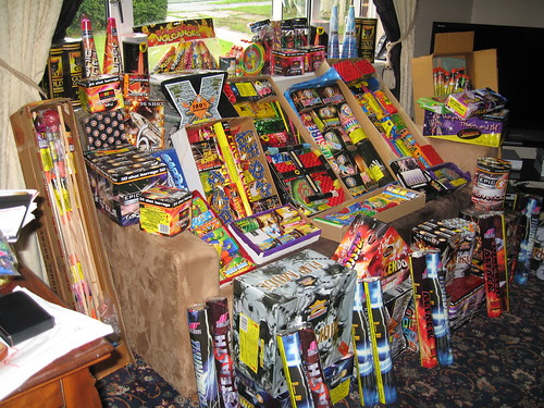 Jo and Mick's Epic Firework Stash