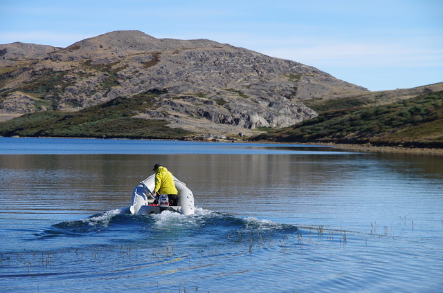 Fieldwork at Two Boat Lake, Greenland 2011