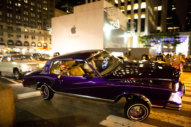 Cars With Hydraulics: Lowrider With Hydraulics, By The Apple Store On Fifth