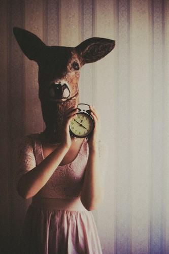 deer, clock with coffee in it and rented Andersen by laura makabresku