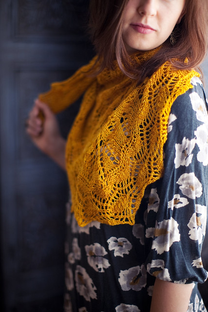Golden Leaf Shawl
