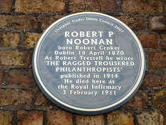 Photo of Robert Tressell blue plaque
