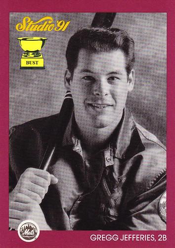 Baseball Card Bust Gregg Jefferies 1991 Studio Studio