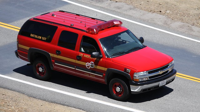 Los angeles county fire department chevrolet suburban flickr photo