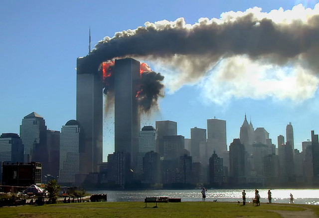 9/11 as seen from Jersey City, unattributed