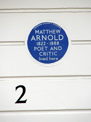 Photo of Matthew Arnold blue plaque