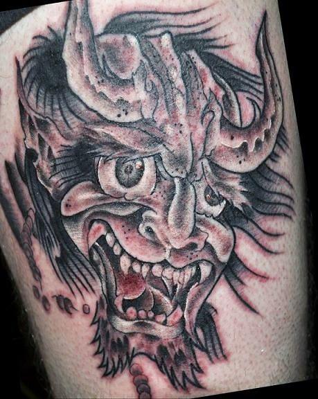 devil face tattoo flickr photo sharing