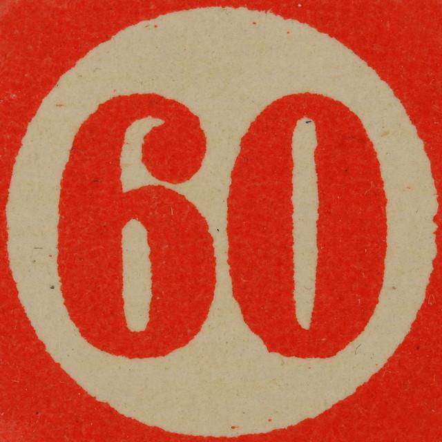 Cardboard Bingo... Number Sixty