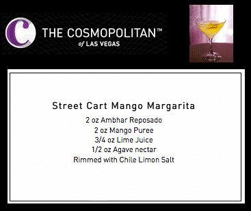 Street Cart Mango Margarita Recipe for Mexican Independence Day Celebration at The Cosmopolitan of Las Vegas