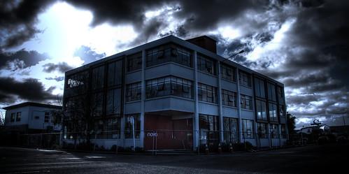 sky building dark earthquake moody sad processing novo