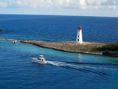 Paradise Island (Hog Island, Nassau Harbour) Lighthouse at Nassau, Bahamas_P7303978