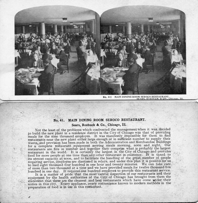 Main Dining Room Seroco Restaurant - Sears Roebuck Chicago ILL 1906