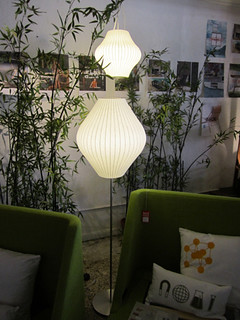 George Nelson Bubble Lamps / Hanging Pear & Floor Lamp Pear