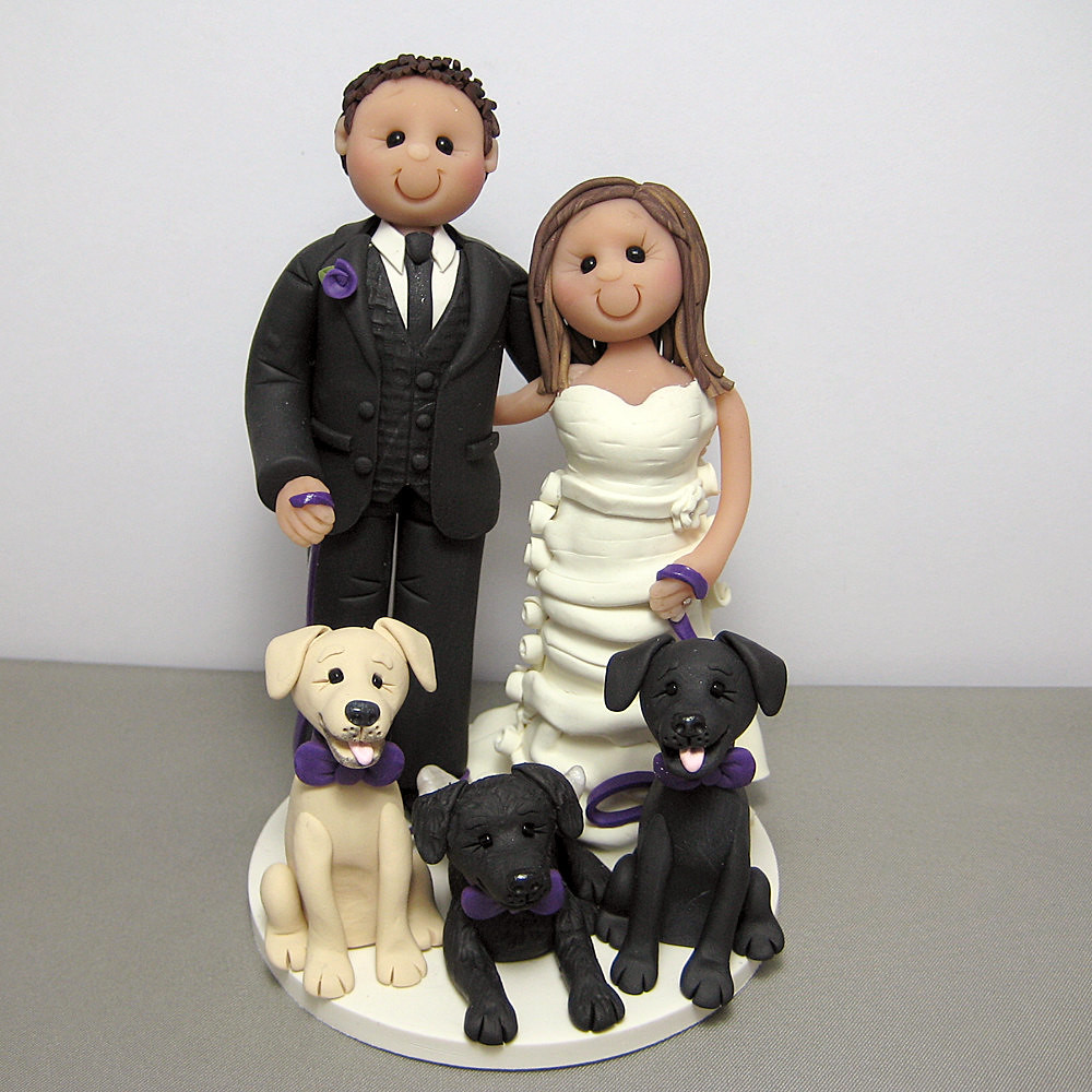 wedding cake topper with dog wedding cake topper with their three dogs a photo on 8811