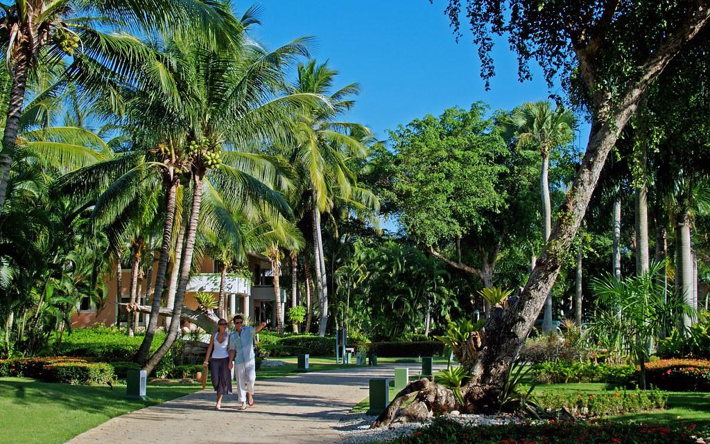 Den fantastisk smukke tropiske have på Paradisus Punta Cana