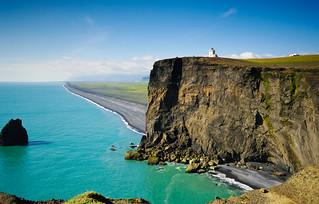 Dyrholaey land/seascape