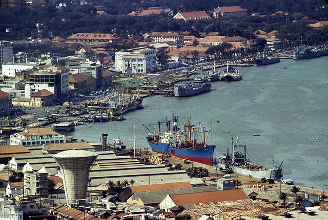 View overlooking Saigon port, 1969-70