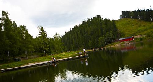 Trollvann - fin badeplass med mye boltreplass om sommeren
