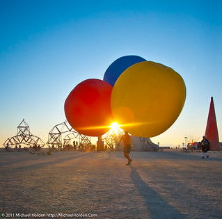 Sunrise Balloon Rides, Burning Man 2011
