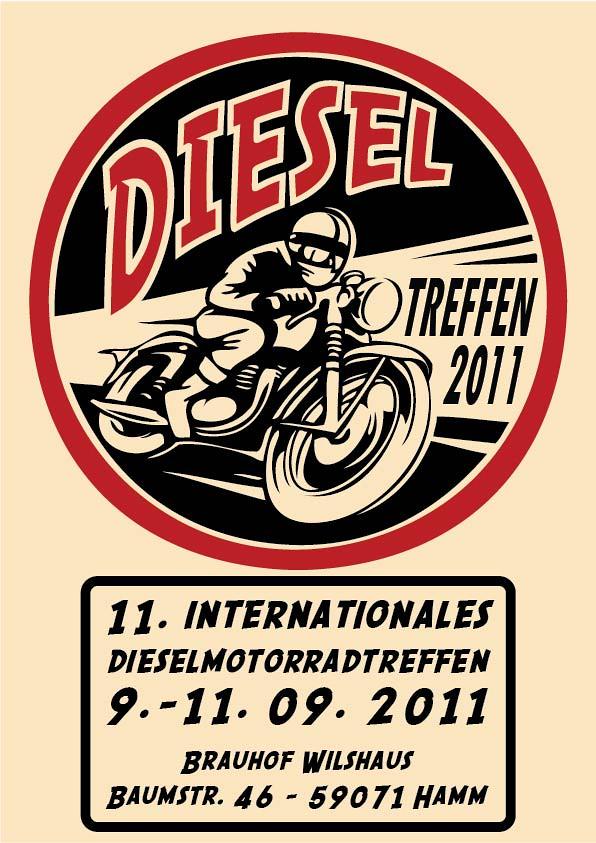 Plakat zum Dieselmotorradtreffen 2011