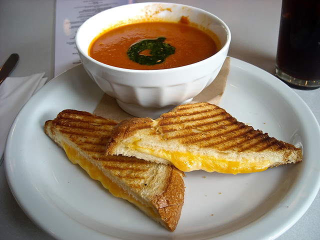 photo - Grilled Cheese Panini & Tomato Soup, Oakland Museum | Flickr ...