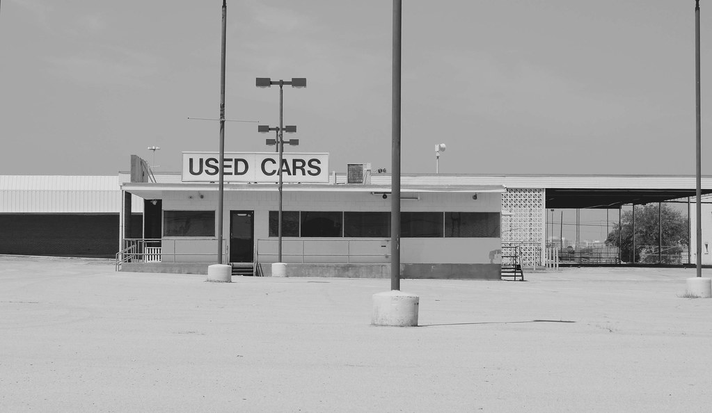 Used car lot...a sign of the times. ODT